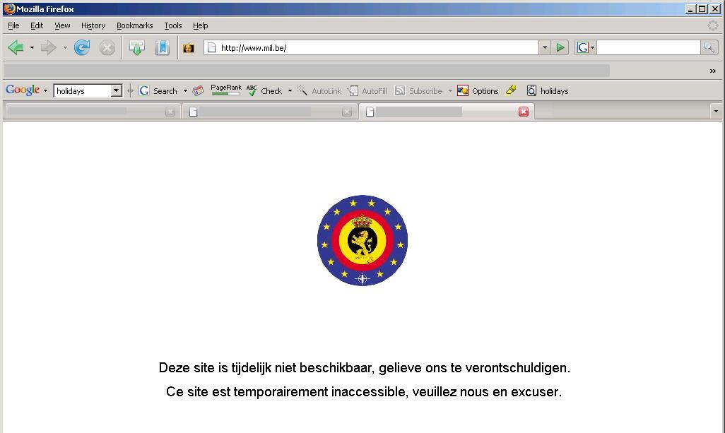 Belgian Army webside defaced! - /dev/random