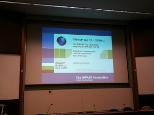 OWASP Benelux Day 2009