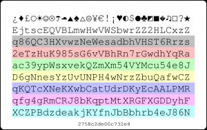 Generated Password Card