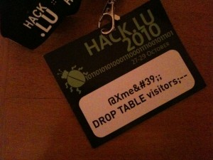 Hack.lu Badge