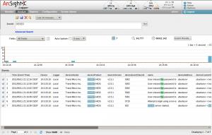 ArcSight Logger Screenshot