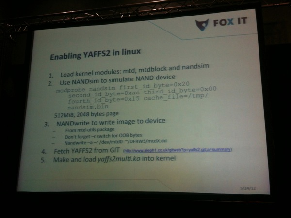 Enable YAFFS2 on Linux