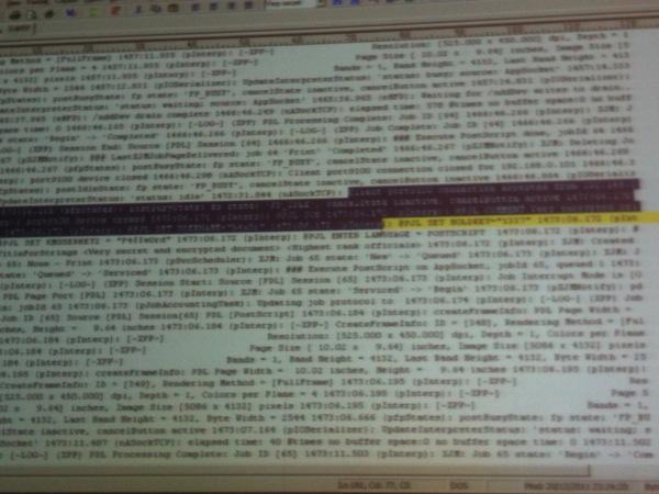 Memory Dump of a Printer