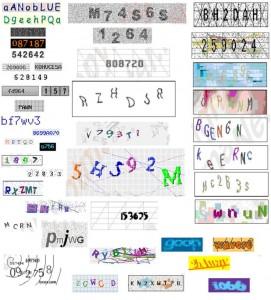 Examples ot CAPTCHA