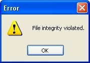 File Integrity Error
