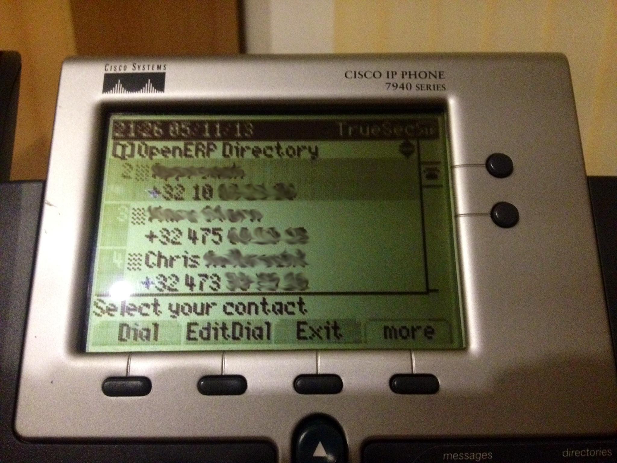 Integrating OpenERP Within a Cisco IP Phone | /dev/random