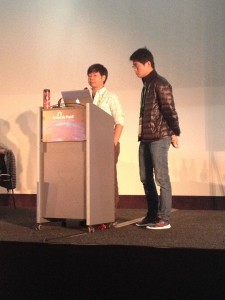 Sung-ting & Ming-chieh on stage