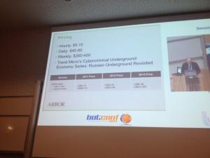 DDoS botnet price