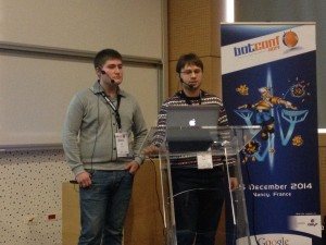 The Yandex guys on stage