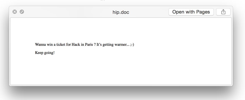 Hack in Paris Challenge Wrap-Up | /dev/random