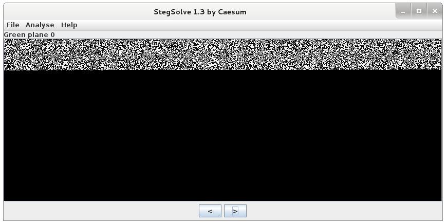 Stegsolve - Green plane 0