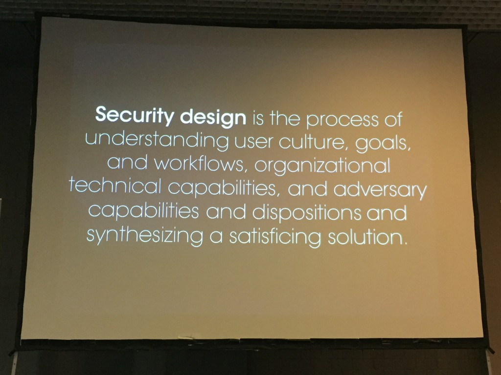 Definition of Security Design