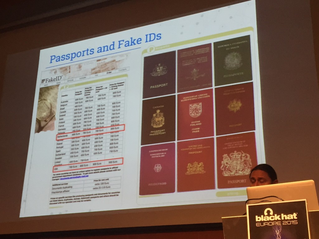 Passports on the deepweb