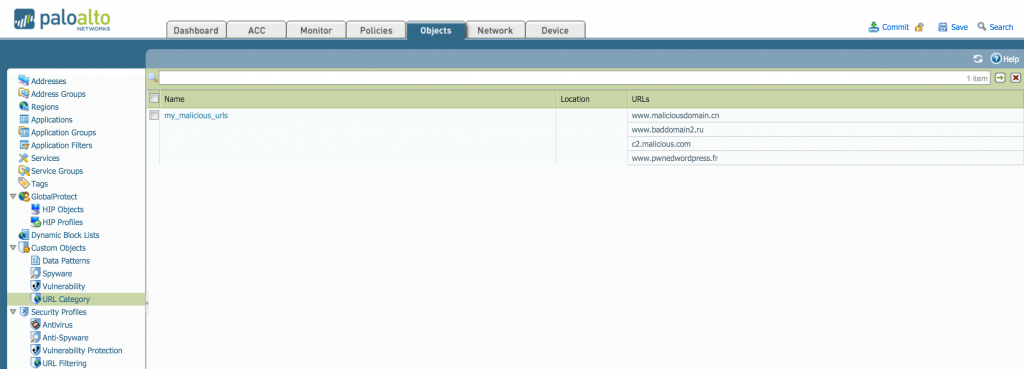 Custom URL Detail