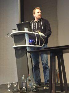 Matthias on stage