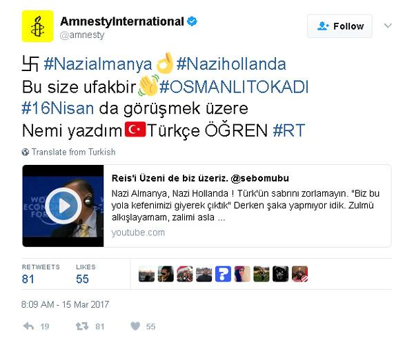 Amnesty Fake Tweet
