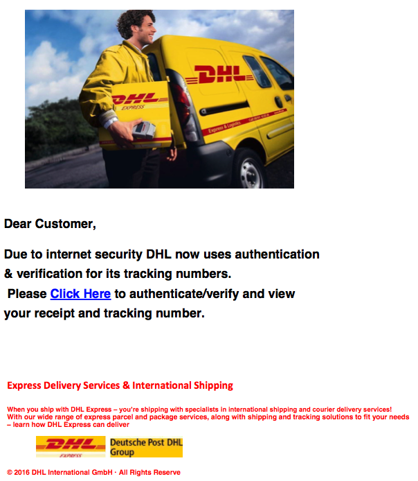 DHL Notification