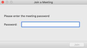 Zoom Meeting Password